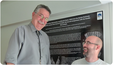 Jacques Gauthier with ICP researcher Arnau Bolet, our expert in cretaceous lizards.