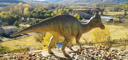 Reconstruction of Arenysaurus ardevoli at Arén, Huesca (Diego Castanera)